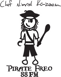 Pirate Freo with spoon to cut